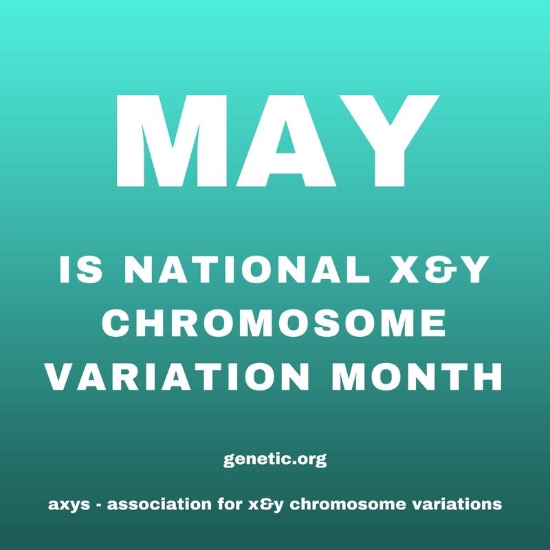 National X & Y Chromosome Variation Awareness Month Social Media Graphic No. 2
