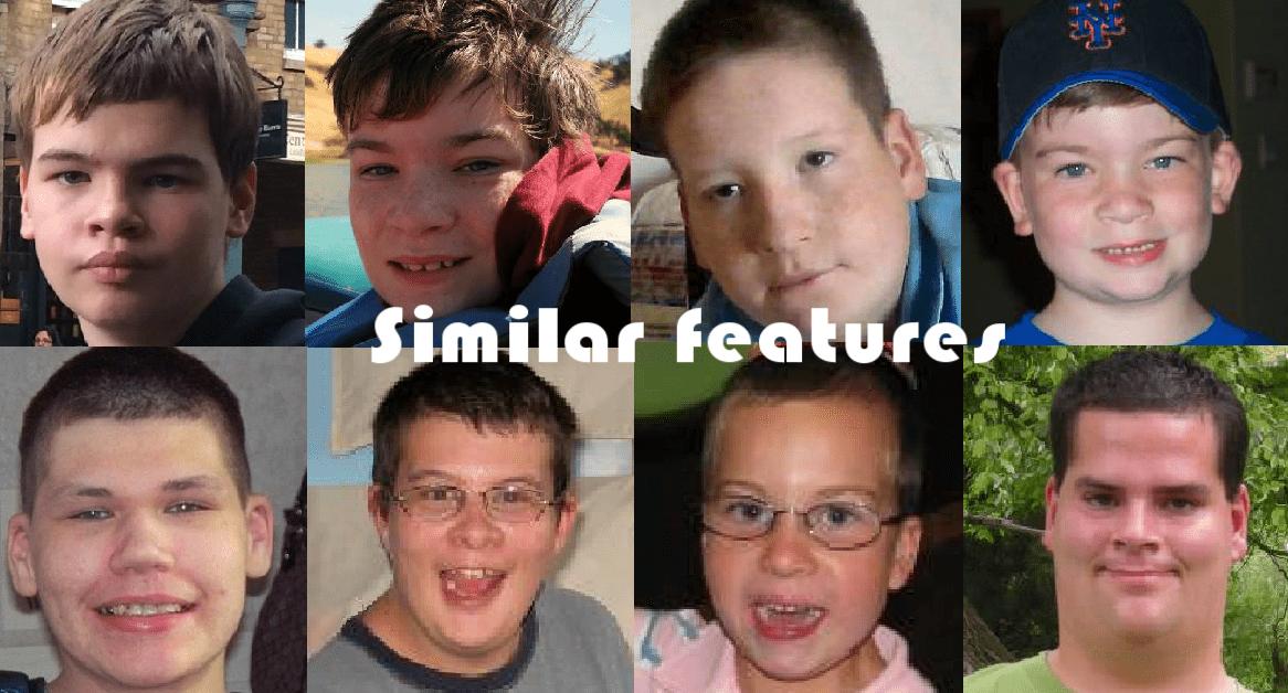 XXYY men and boys share similar facial features.
