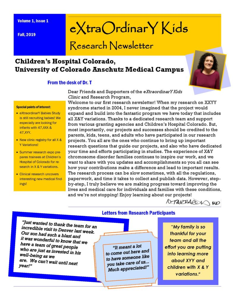 Image of the front page of the newsletter